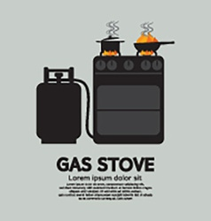 Two Stoves With Gas vector image