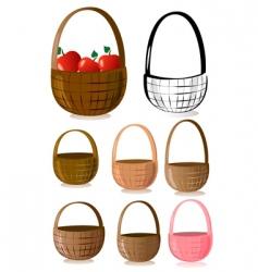 baskets vector image