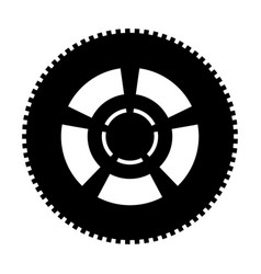 car wheel the black color icon vector image vector image