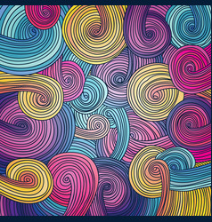 colorful linear wavy texture vector image