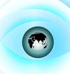 Globe eye vector image vector image