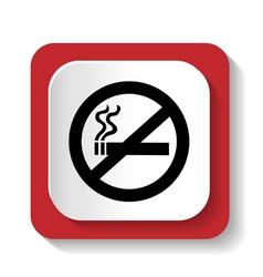 icon no smoking vector image