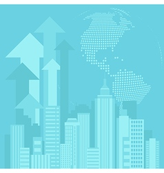 Urban blue background vector