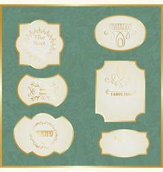 Vintage Labels with Golden Borders vector image