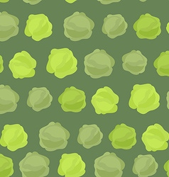 Background of green cabbage seamless pattern of vector image