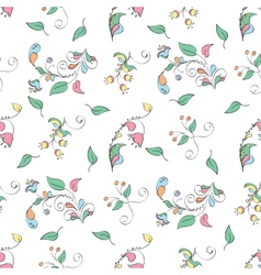elegant background of flowers in a rustic style vector image
