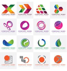 16 beautiful colorful logo design templates vector