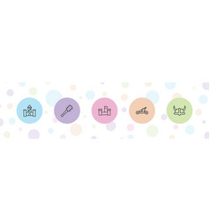 5 history icons vector