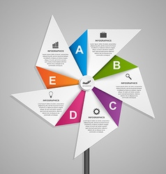 Abstract options infographics design template in vector image