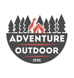 Adventure outdoor vintage isolated label vector