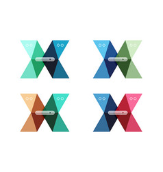 Arrow infographics business templates set vector