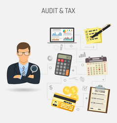 Auditing tax process accounting banner vector