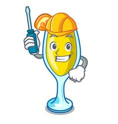 Automotive mimosa mascot cartoon style vector