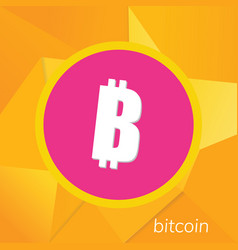 Bitcoin logo cryptography currency sign icon vector