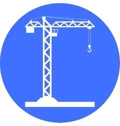 Building Tower crane icon - vector image