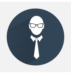 Businessman icon Office worker symbol Face vector image