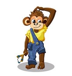 Cartoon monkey boy vector