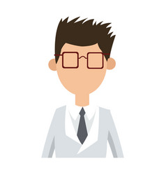 character man male wearing coat and glasses vector image