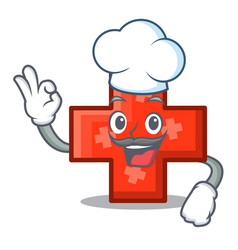 chef cross character cartoon style vector image