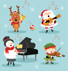 christmas music set vector image