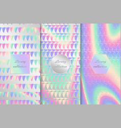 collection of holographic backgrounds vector image