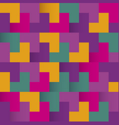 colorful abstract background with squares vector image