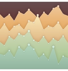 Colorful graph design for workflow layout diagram vector