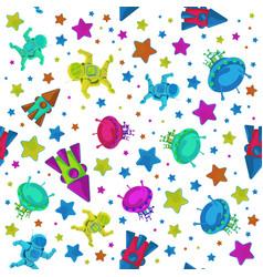 Colorful pattern to 12 april cosmonautics vector