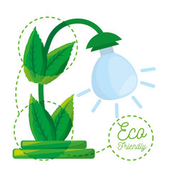 Concept for save energy protecting the planet vector