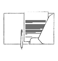 corporate identity template folder and pen vector image