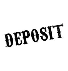 Deposit rubber stamp vector