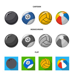 Design of sport and ball logo set of sport vector