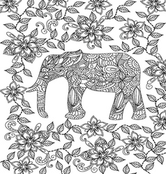 elephant coloring page vector image