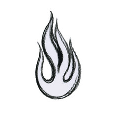 Fire flame black and white vector