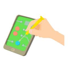 Fix smartphone icon cartoon style vector