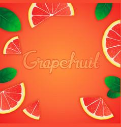 Fruity grapefruit background vector