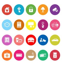 General home stay flat icons on white background vector image