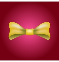 Glamorous 3d bow tie Yellow on red vector