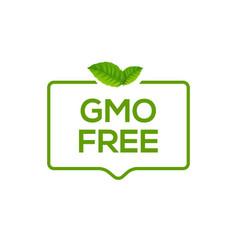 Gmo free icon logo non gmo food label symbol vector
