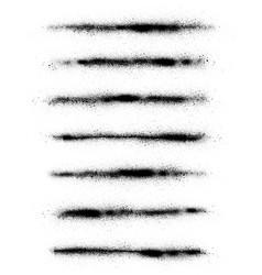 Graffiti sprayed abstract lines in black vector