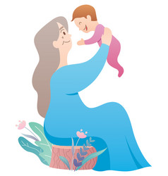grandmother and baby vector image