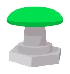 Green button icon cartoon style vector image vector image