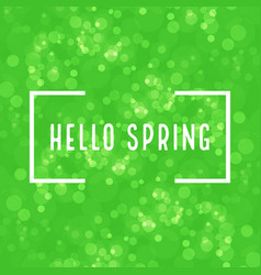 green spring background with the inscription vector image