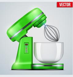 Green stand mixer vector
