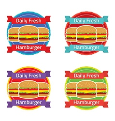 Hamburger Label Set vector