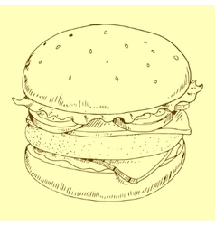 Hamburger meal vector image
