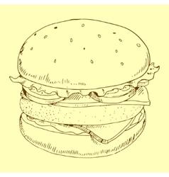 Hamburger meal vector
