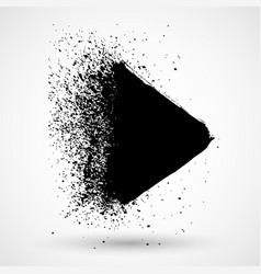 hand painted ink blob with splashes black round vector image