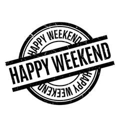 Happy weekend rubber stamp vector