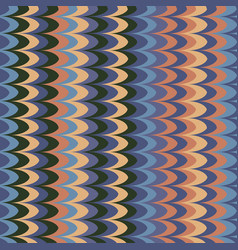 Ikat wave contrast retro seamless pattern vector